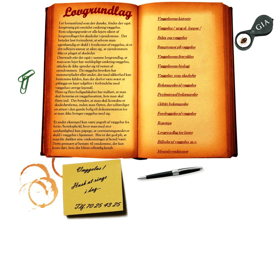 Sengelus - lovgrundlag